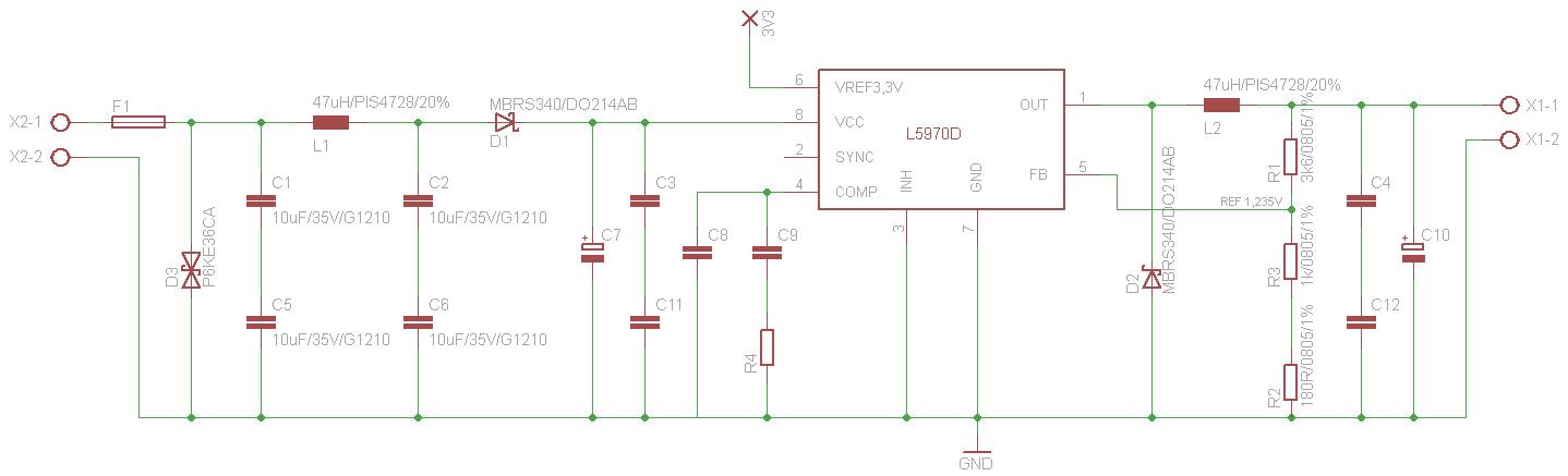 Schaltregler Schaltplan und Layout Kontrolle - Mikrocontroller.net
