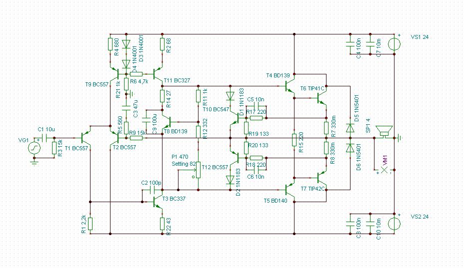 transistoren f r endstufe