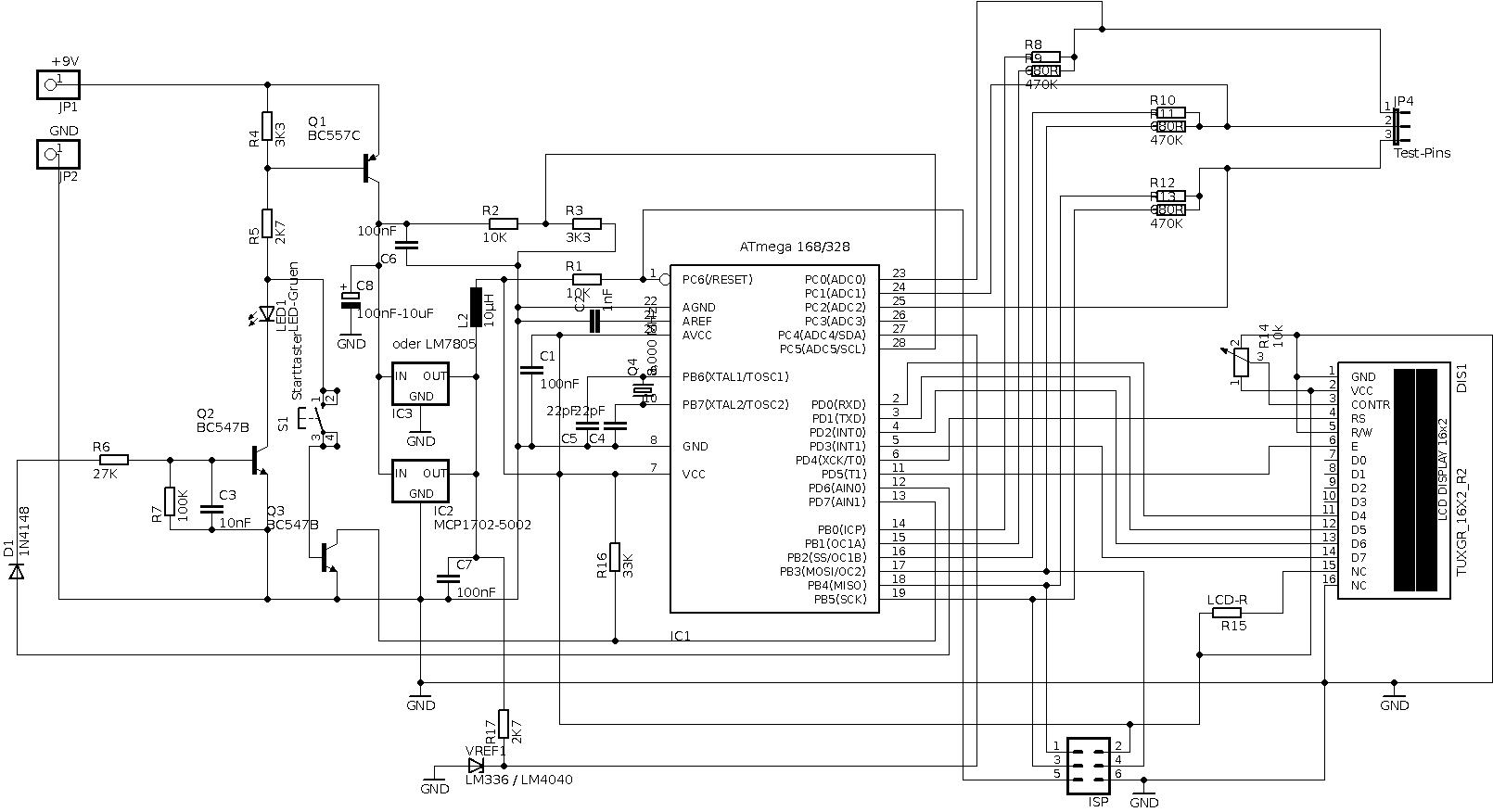 Info Platinen Bauteiletester / Transistortester - Mikrocontroller.net