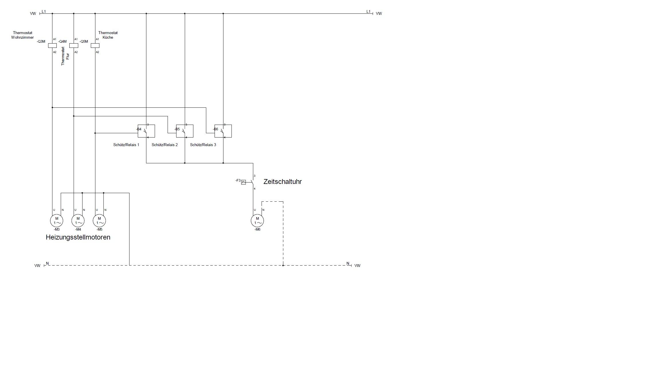 inteligente schaltung einer umw lzpumpe ber sch tz oder relais. Black Bedroom Furniture Sets. Home Design Ideas