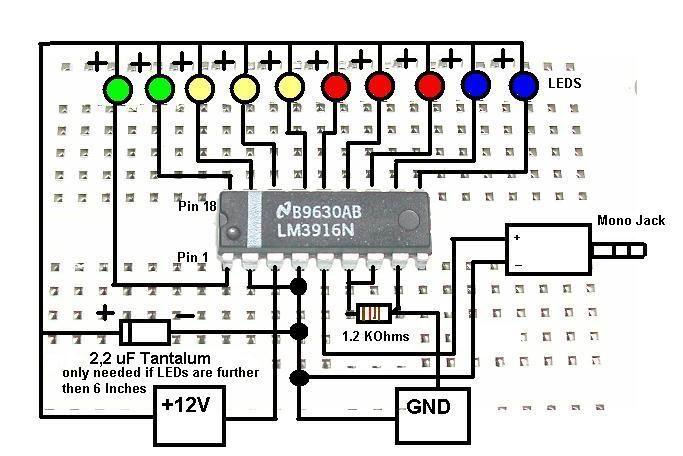 lm3916  3914 problem vu meter
