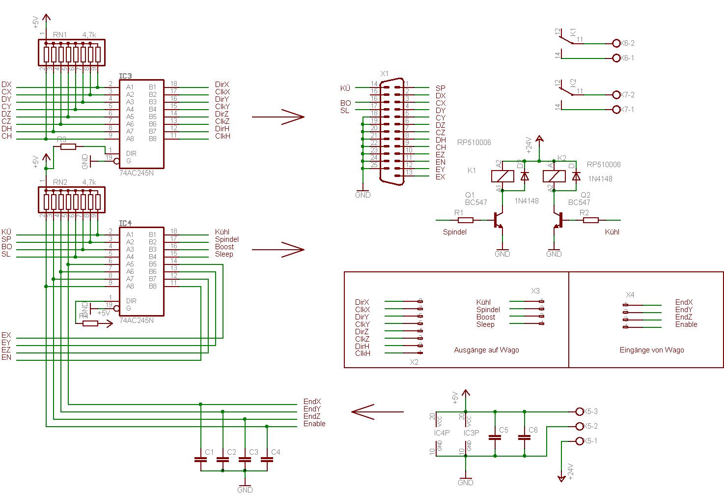 Suche schaltplan für CNC Fräse - Mikrocontroller.net
