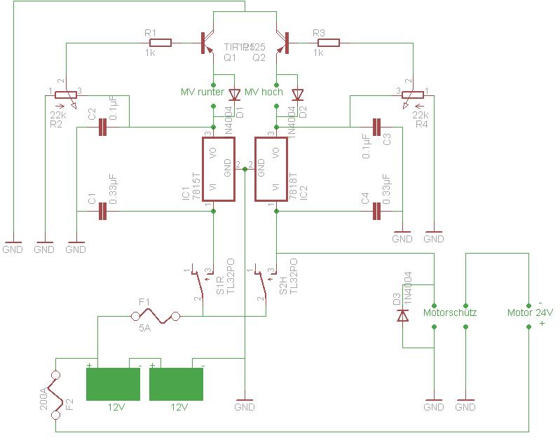 Eigenbau einer Schaltung für Hebebühne - Mikrocontroller.net