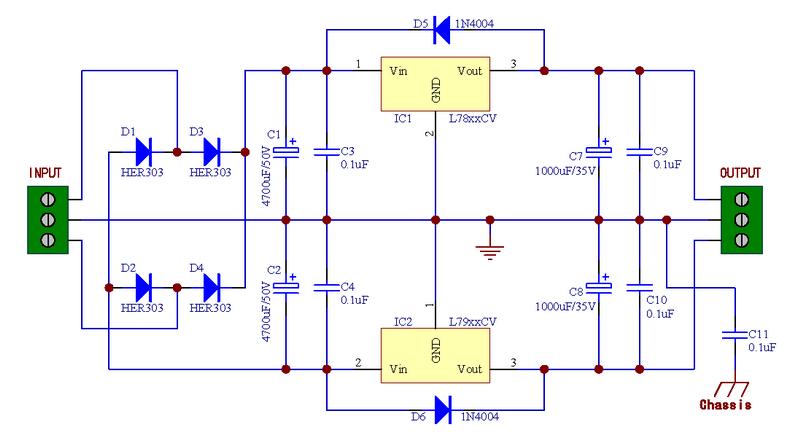 7812/7912 Schaltung - Mikrocontroller.net