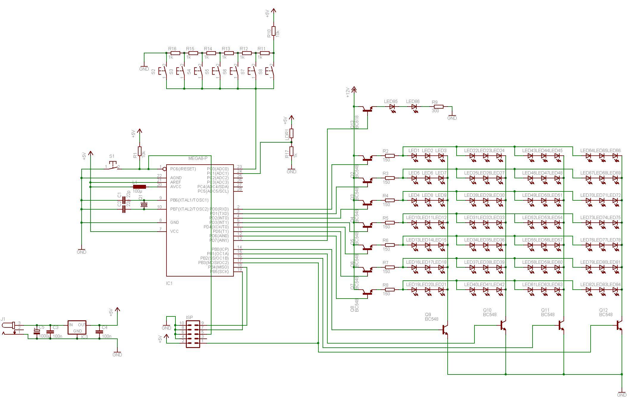 7-Segment LED Uhr - Mikrocontroller.net