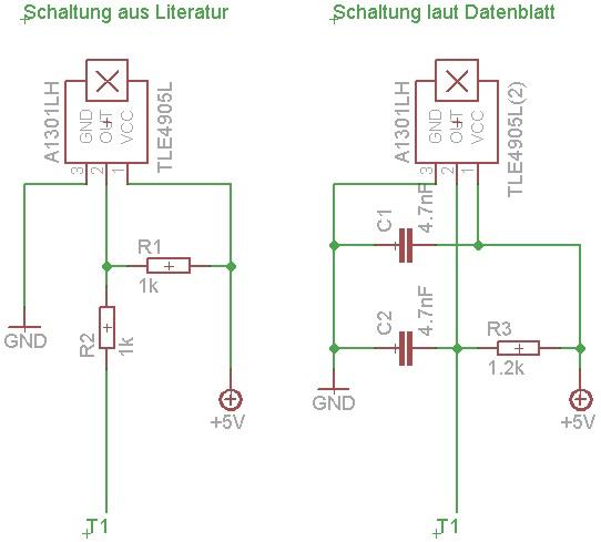 Welche Schaltung ist besser? (Hall-Sensor) - Mikrocontroller.net