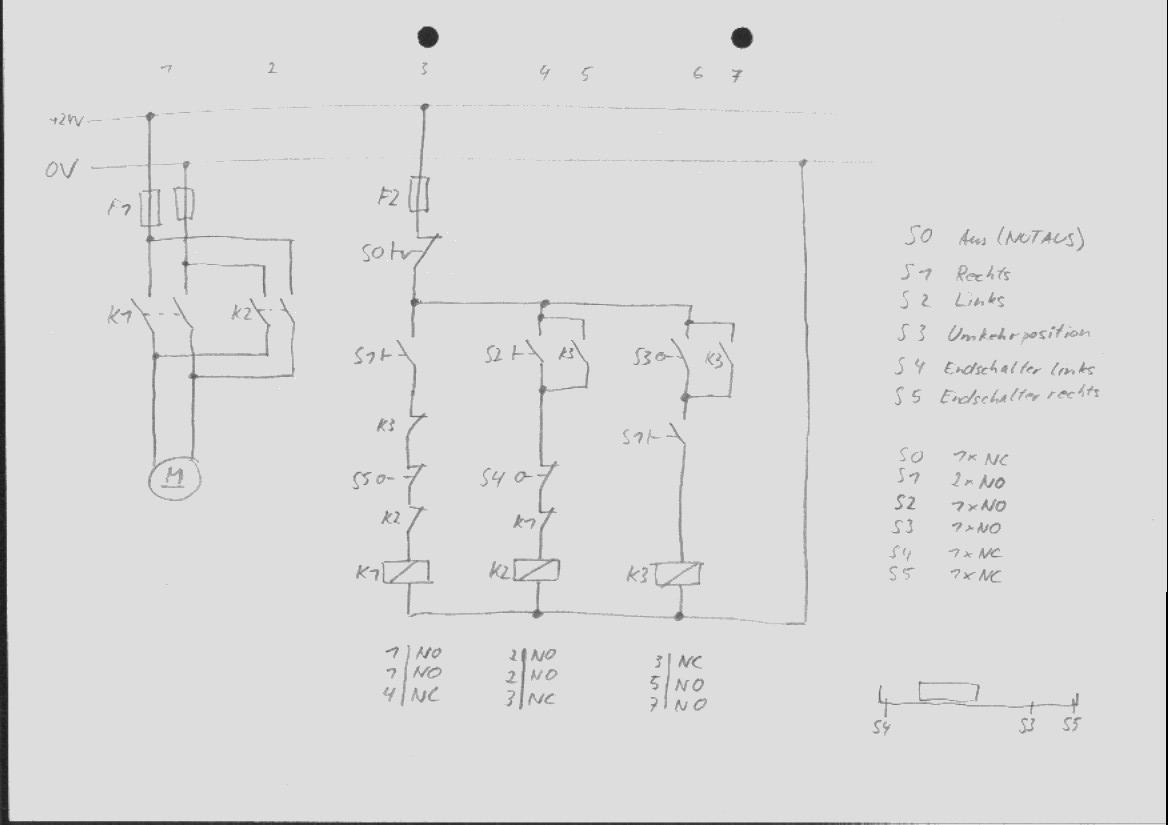 Wendeschaltung mit Selbsthaltung - Mikrocontroller.net