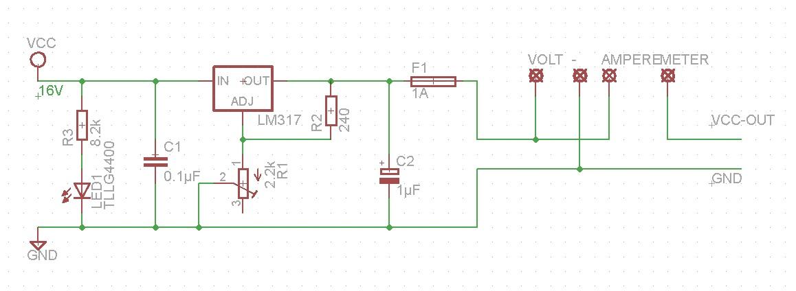 Spannungsregler LM317 als günstiges Labornetzteil - Mikrocontroller.net