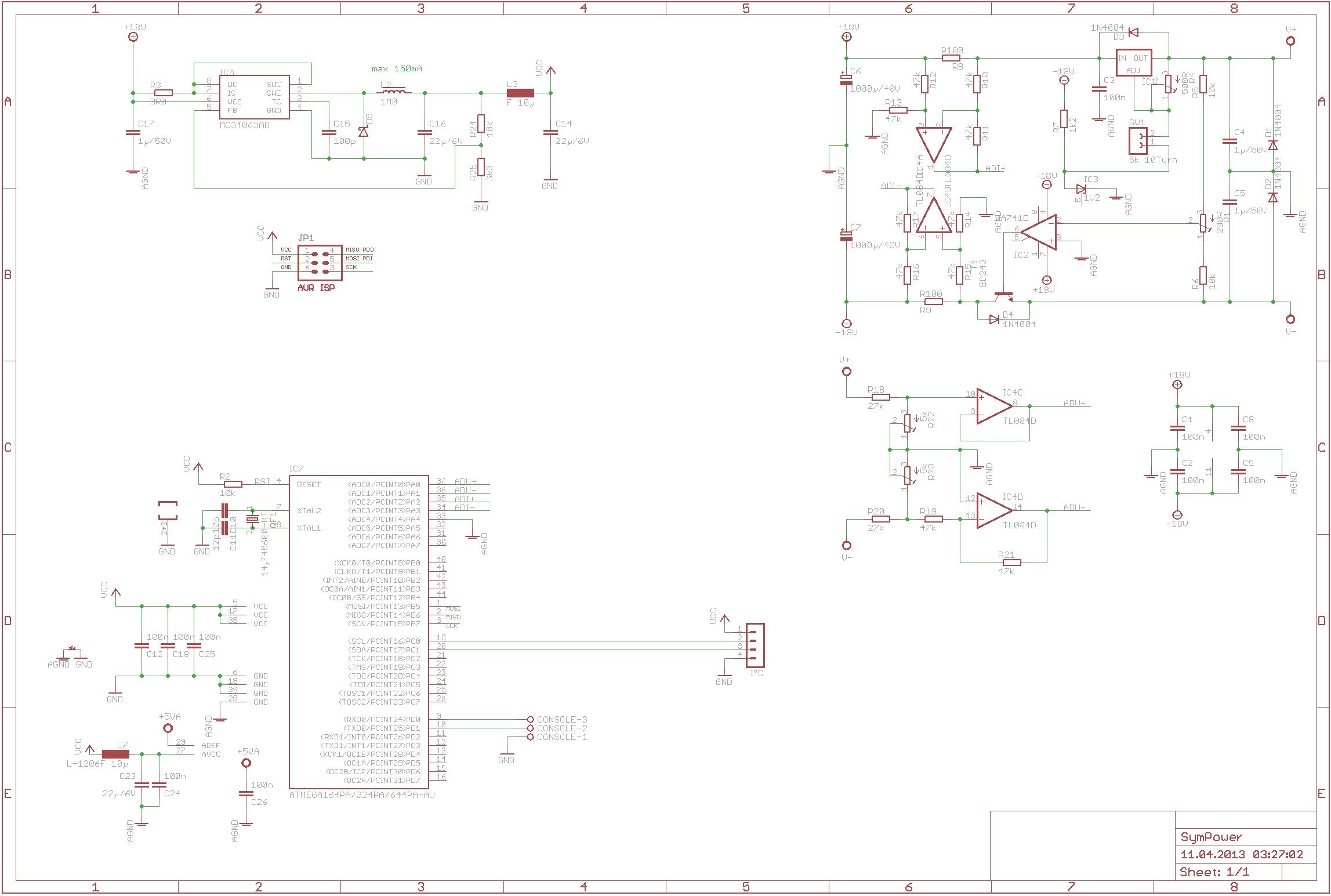 symmetrisches netzteil mit lm317 und tacking 0-16v