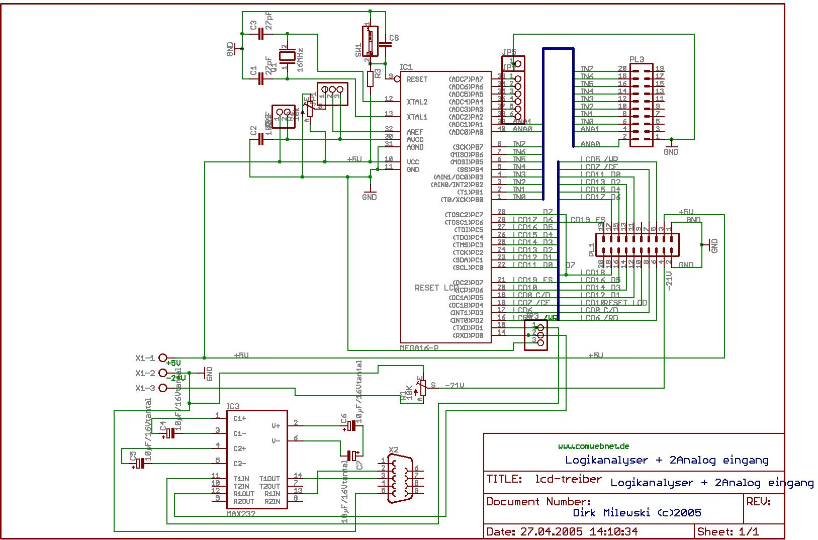 Einfacher Osziloskop - Bascom - Mikrocontroller.net
