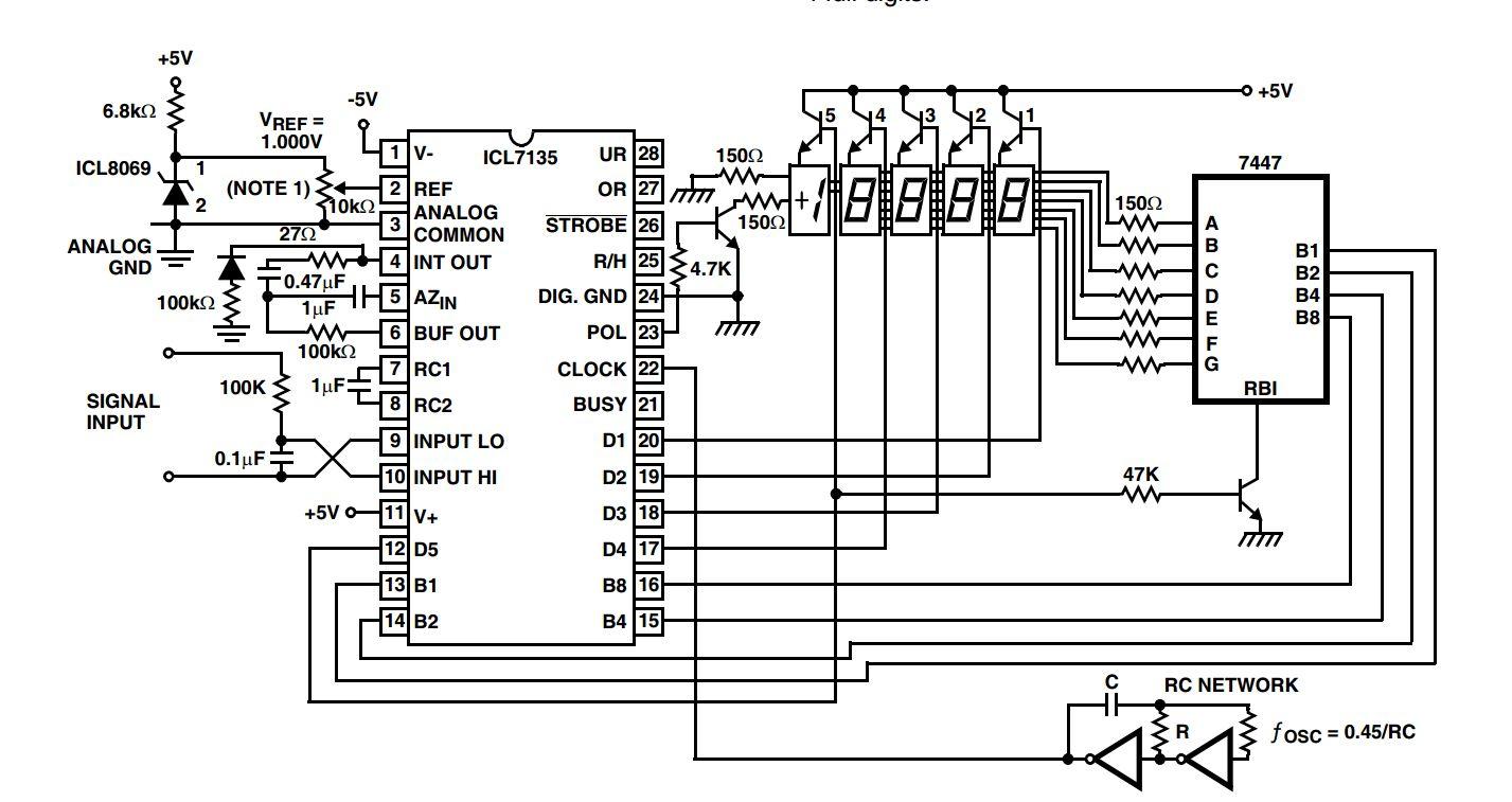 Tipps Gesuchtt F 252 R Voltmeter Icl7135 Mikrocontroller Net