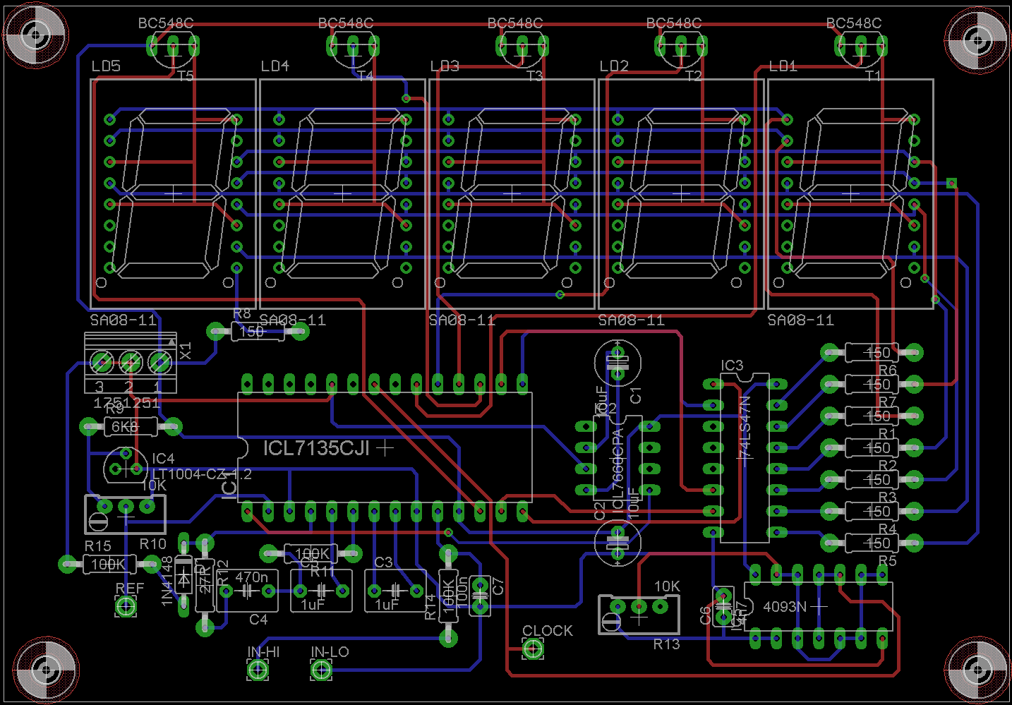 Icl7135 Voltmeter Schematics Trusted Wiring Diagrams Plasma Display Circuit Diagram Using A D Converter Tipps Gesuchtt Fr Mikrocontroller Net Electronic Schematic Board