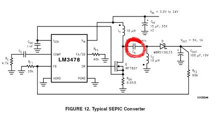 Схема преобразователя 12-24 В (работа в диапазоне 10-20 В) собрана на микросхеме lm3478 по стандартной схеме...