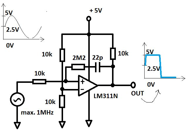 sinus zu rechteck mit lm311n