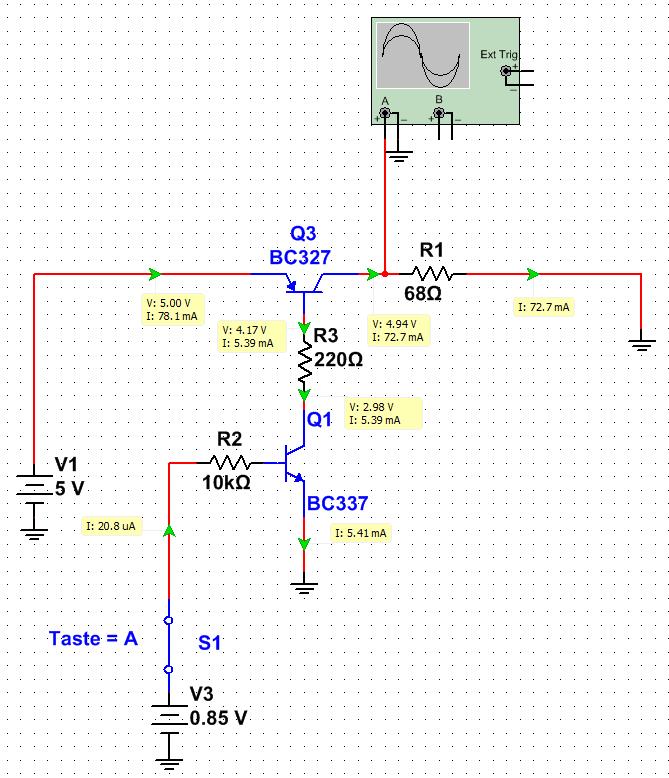Transistor-Schalter schaltet auch bei Low-Pegel durch ...