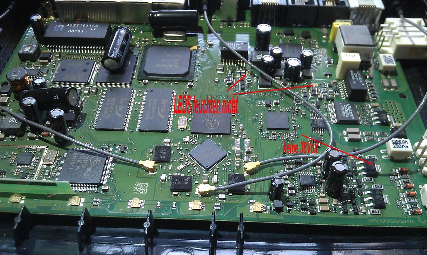 fritzbox 3270 power led blinkt