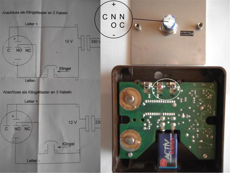 Anschluss Klingeltaster mit LED Beleuchtung - Bitte um Hilfe ...