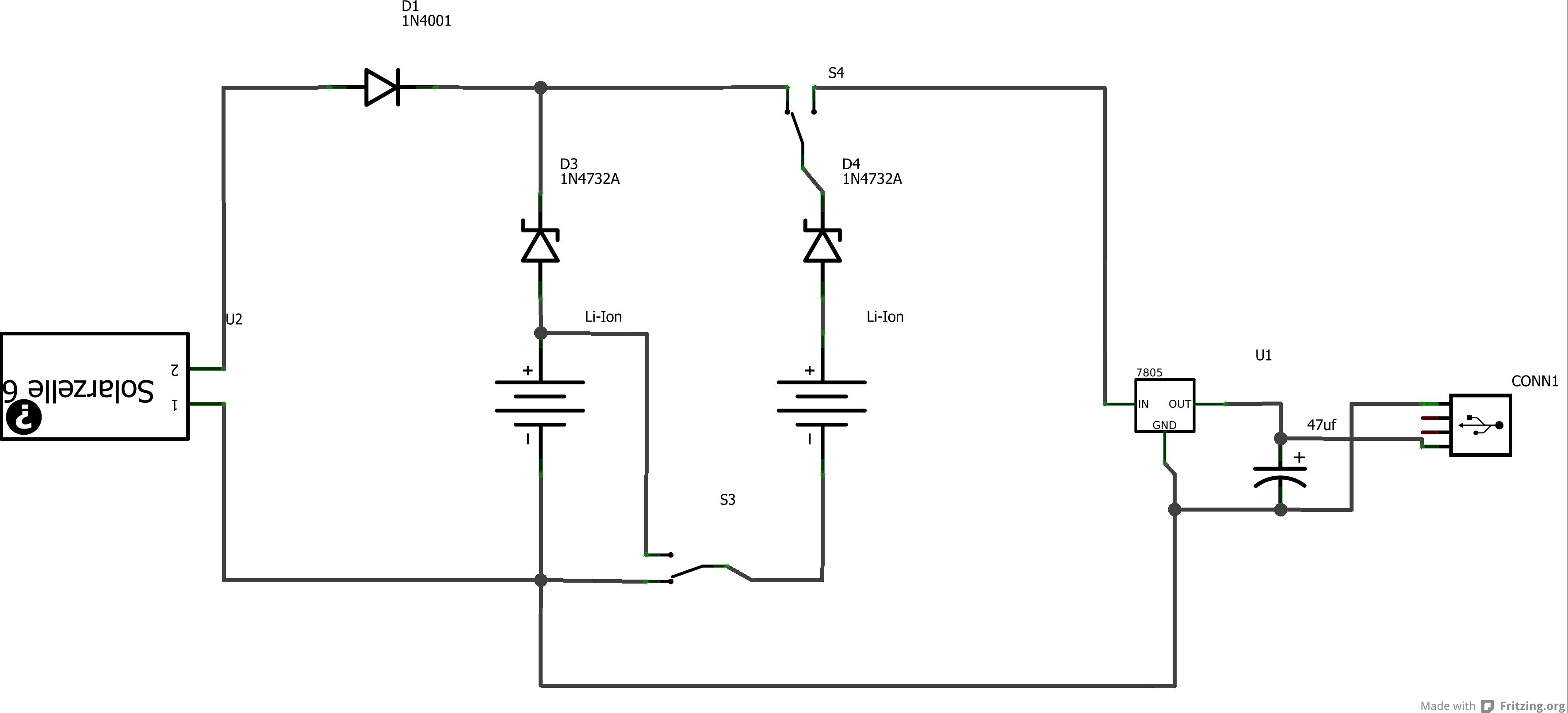 Solar Power Bank DIY / solar phone charger - Mikrocontroller.net