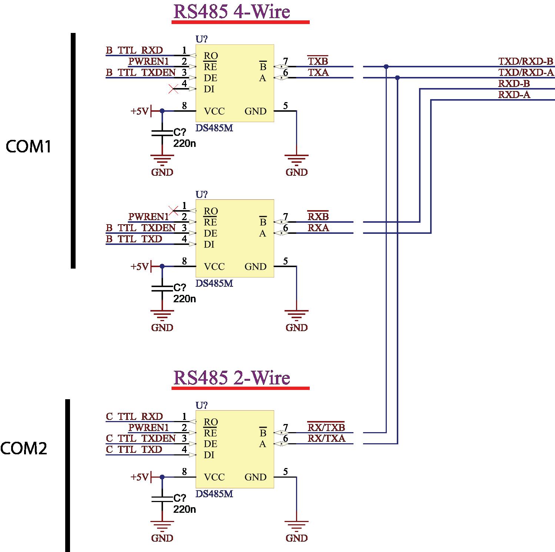RS485 2-Draht und 4-Draht umschalten - Mikrocontroller.net