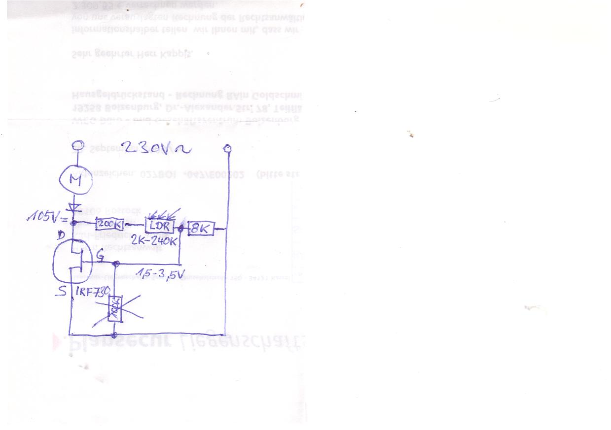 Nähmaschine, Umbau auf Phasenanschnittsteuerung - Mikrocontroller.net