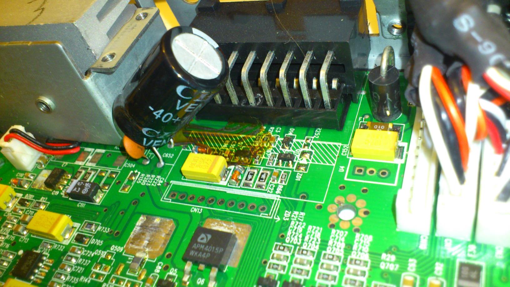 ausgelaufener elko mikrocontrollernet