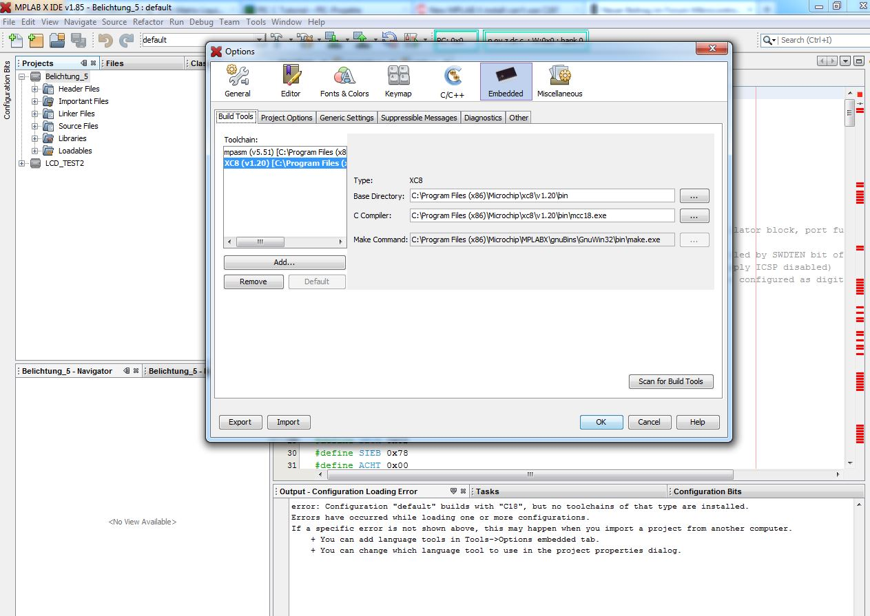 Mcc18 Mit Mplab X Microchip C Compiler Software Preview Image For Mplb Einst