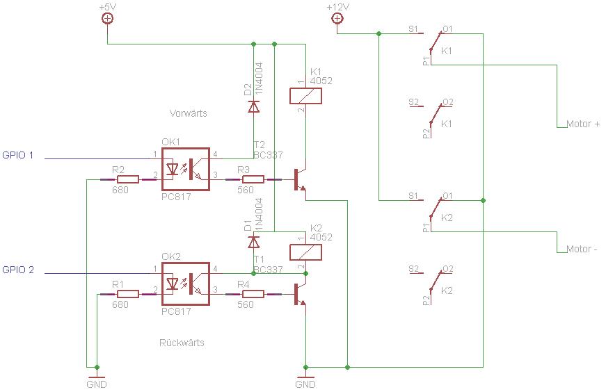DC Motorsteuerung mit Raspberry Pi - GPIO - Mikrocontroller.net