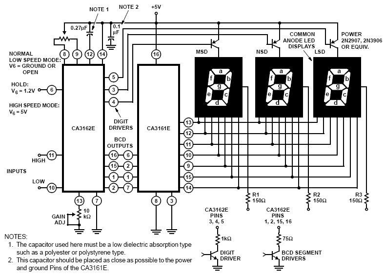 7 Segment Led - Anzeige für Netzgerät - Mikrocontroller.net