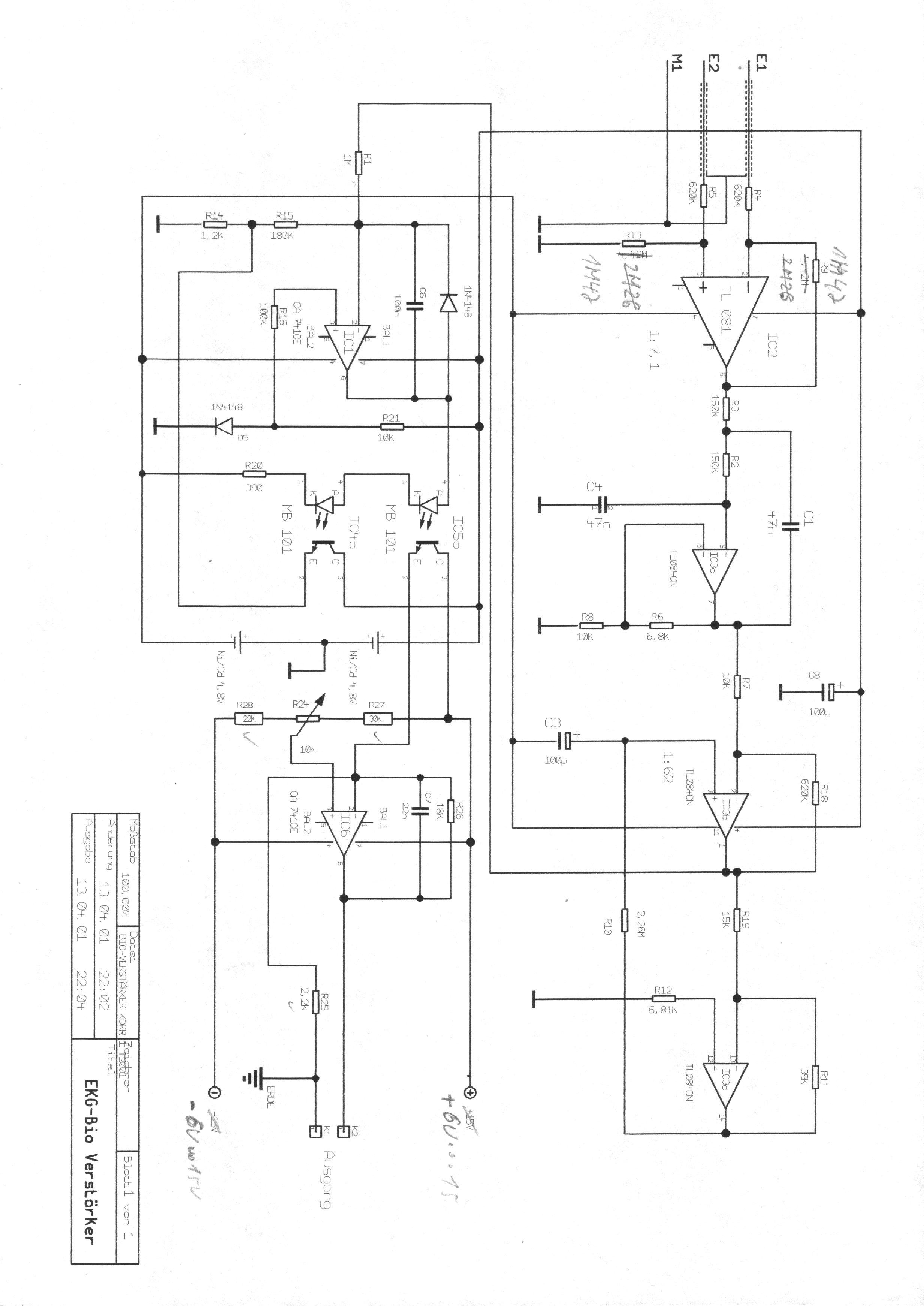 EKG Schaltung okay? - Mikrocontroller.net