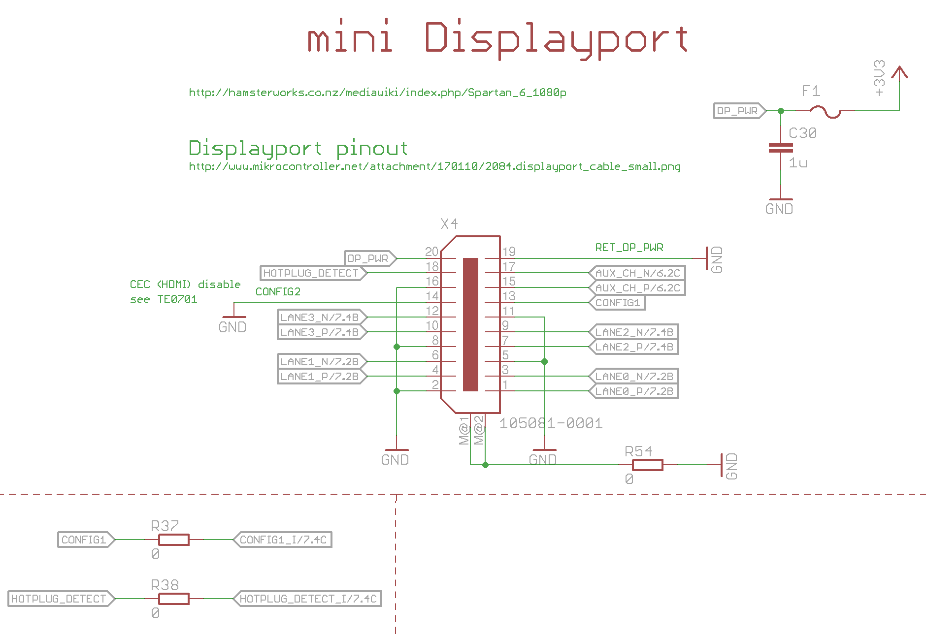 Display-Port - Wie verdrahten - Mikrocontroller.net
