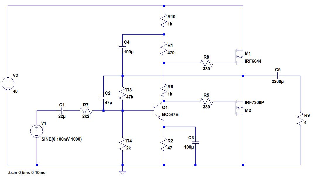 Audio Verstärker mit MOSFET Gegentaktendstufe - Mikrocontroller.net