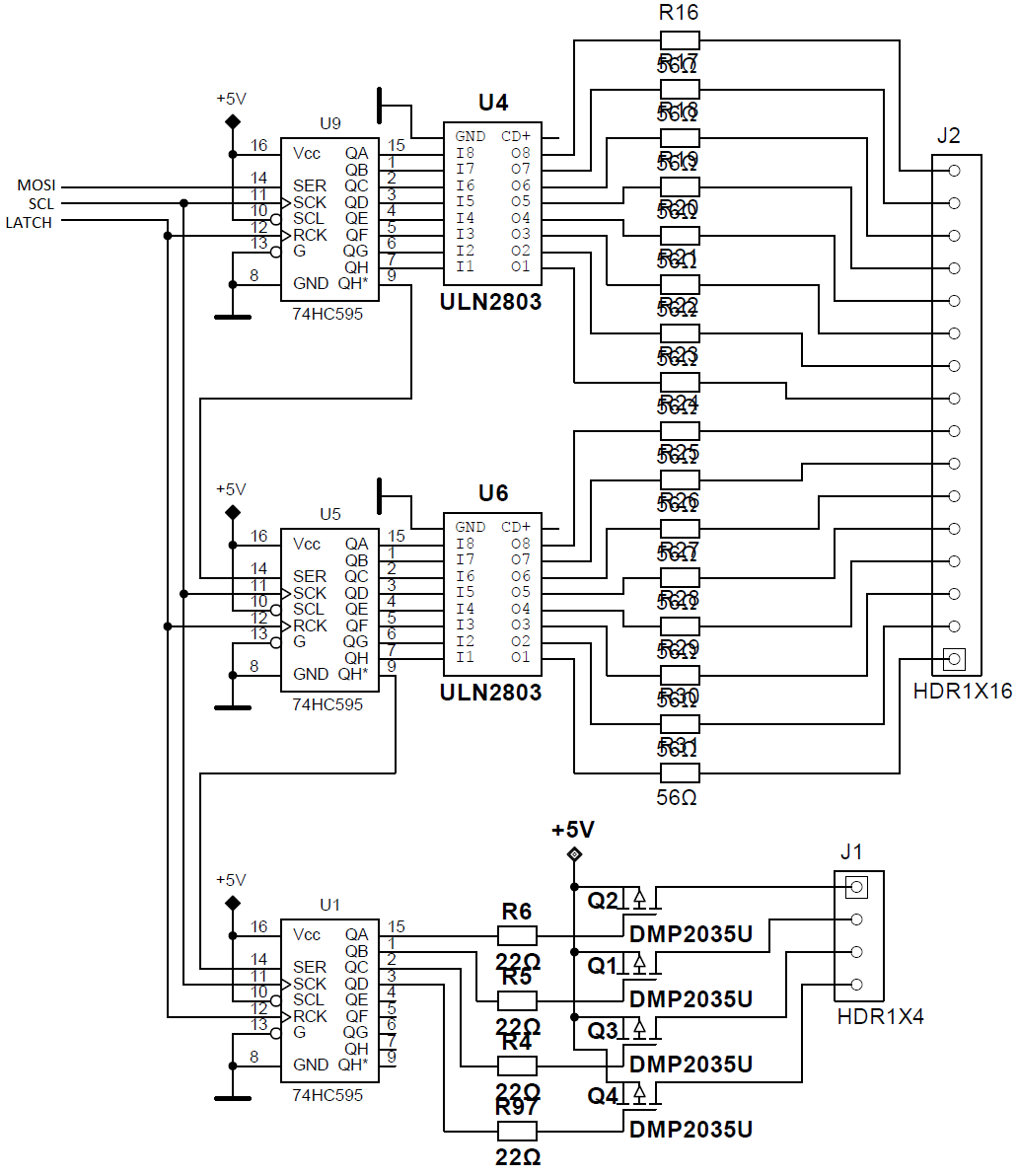 74HC595 Socket besides Interfacing Keyboard Atmega8 additionally 325631 together with Postimg 3108688 further 4 Digit Counter Circuit Schematic. on multiplexing arduino 74hc595