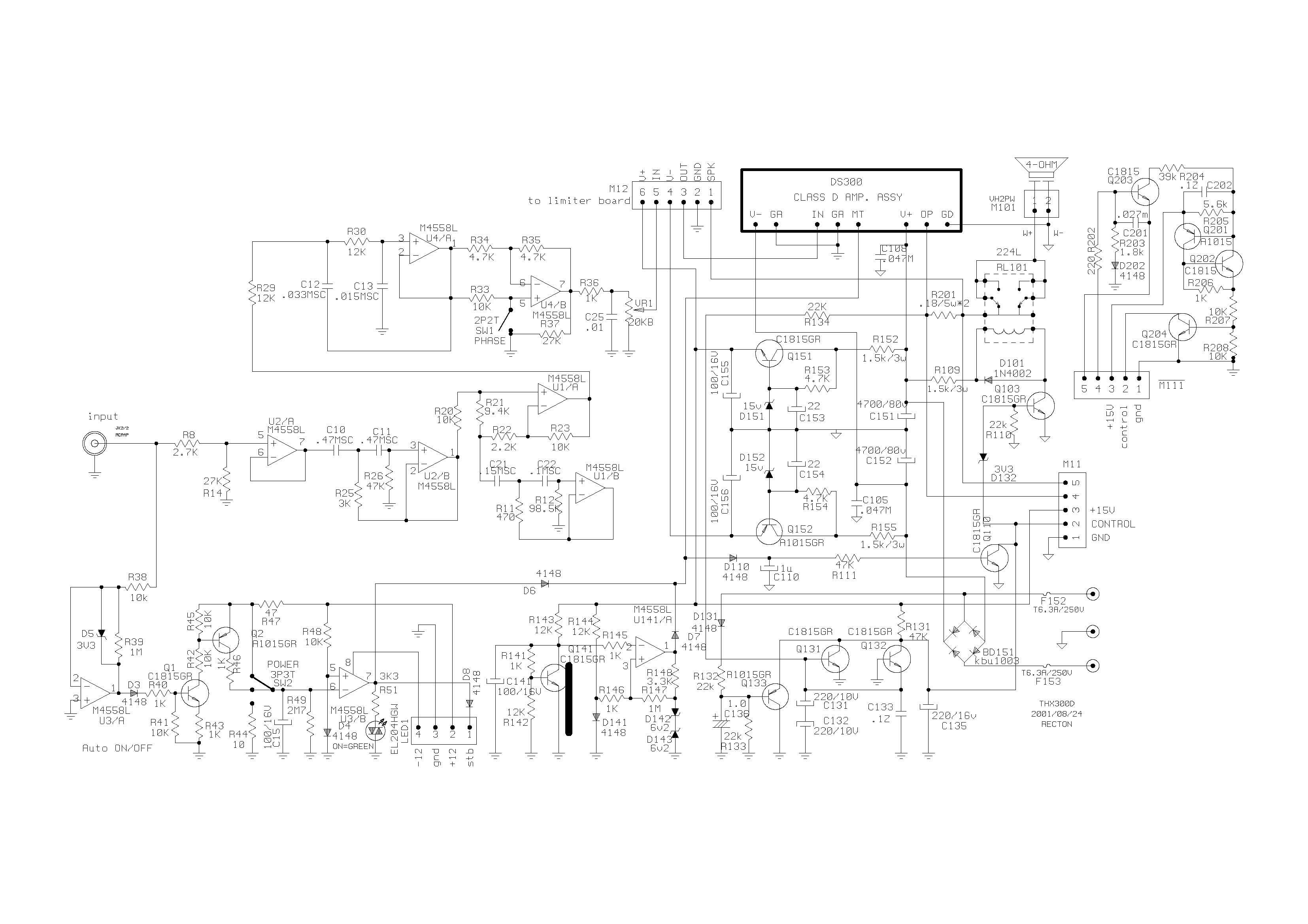 Defekten Class D Subwoofer-Verstärker umbauen auf Class A ...
