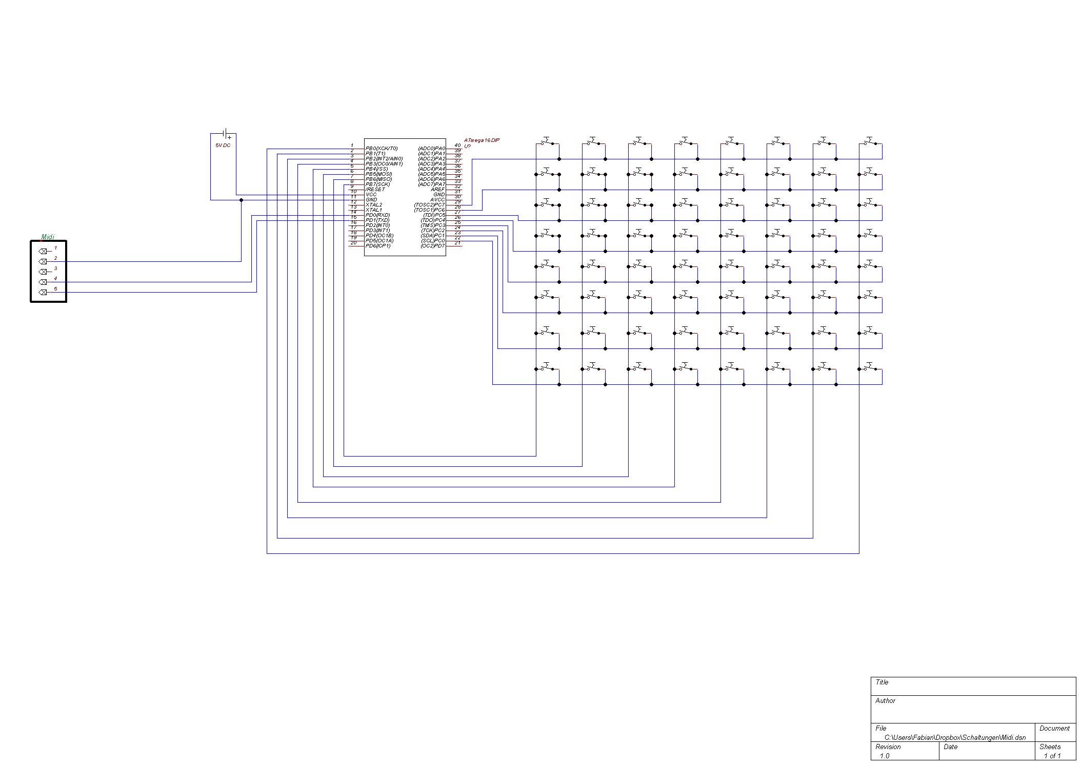 Midi Platine bauen - Mikrocontroller.net