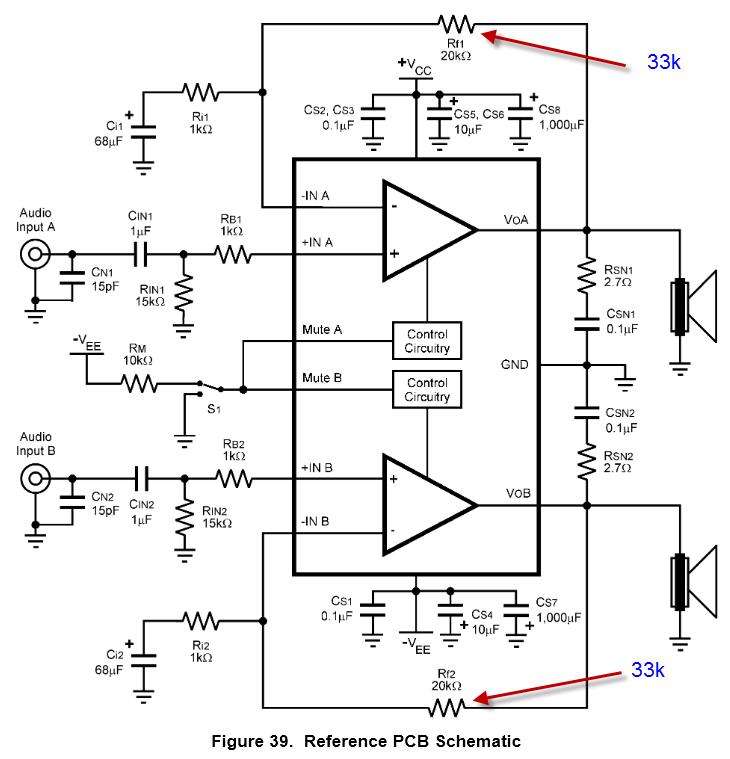 Probleme beim Audioverstärker-IC LM4780 - Mikrocontroller.net
