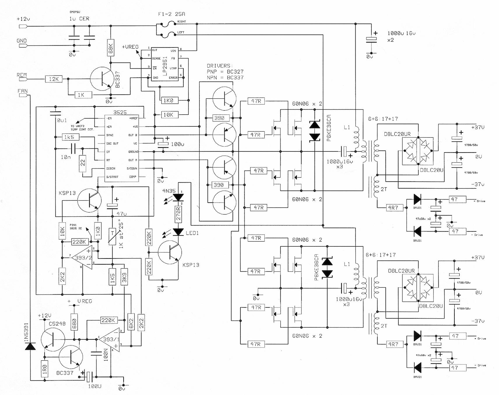12 Volt Schaltnetzteil für Audioanwendung - HELP is needed ...