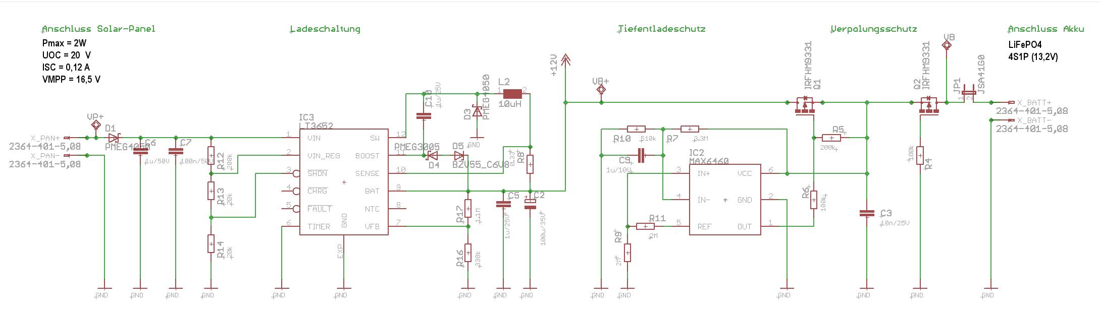 Solar-Lader mit LT3652 - Schaltung braucht mehr Strom bei wenig ...