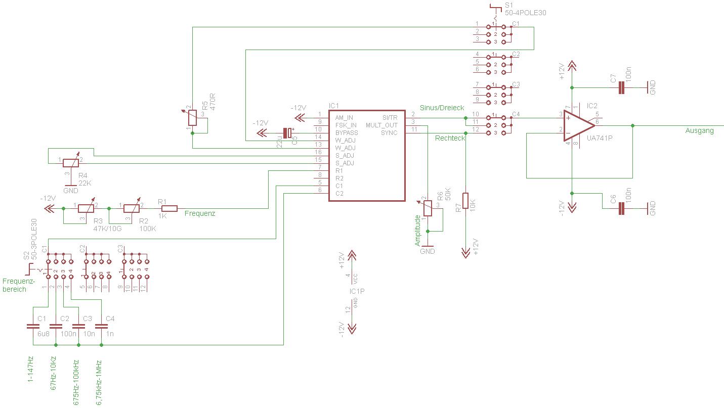 Schaltplan Signalgenerator mit XR2206 - Mikrocontroller.net