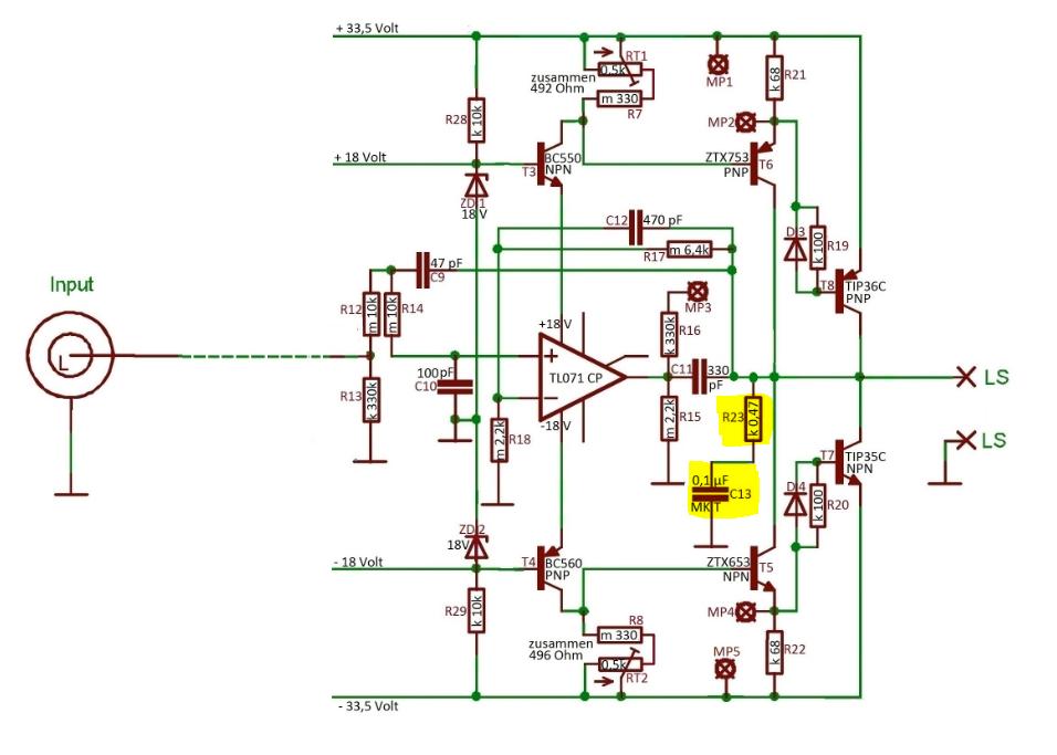 bedeutung zweier bauteile einer audio verstaerkerschaltung. Black Bedroom Furniture Sets. Home Design Ideas
