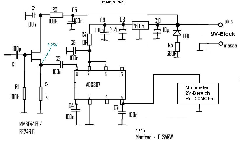 Quarze ausmessen mit AD8307 (logarithmischer Verstärker ...