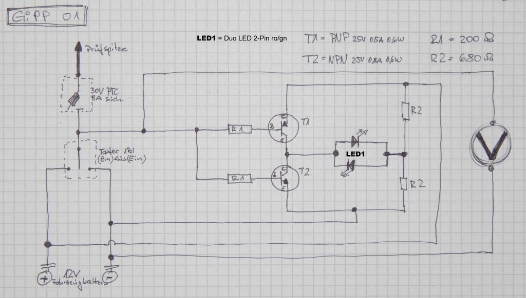 Duo LED Prüfschaltung funktioniert nicht - Mikrocontroller.net