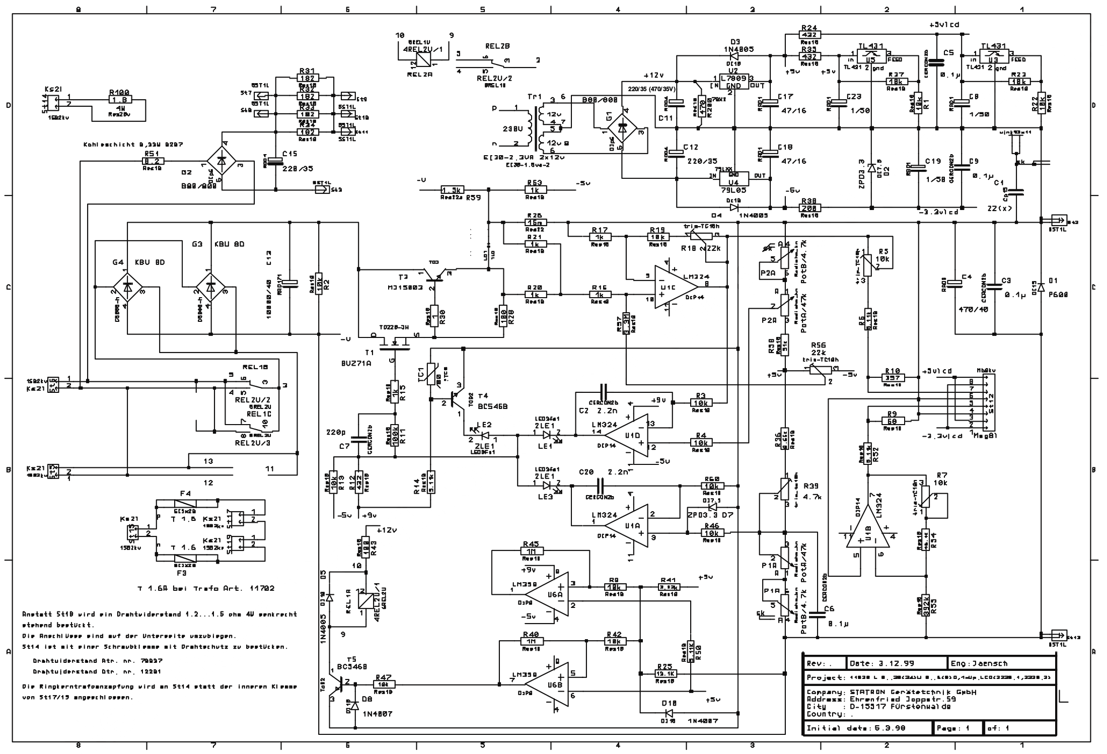 Statron Typ 2224 defekt/Schaltplan gesucht - Mikrocontroller.net