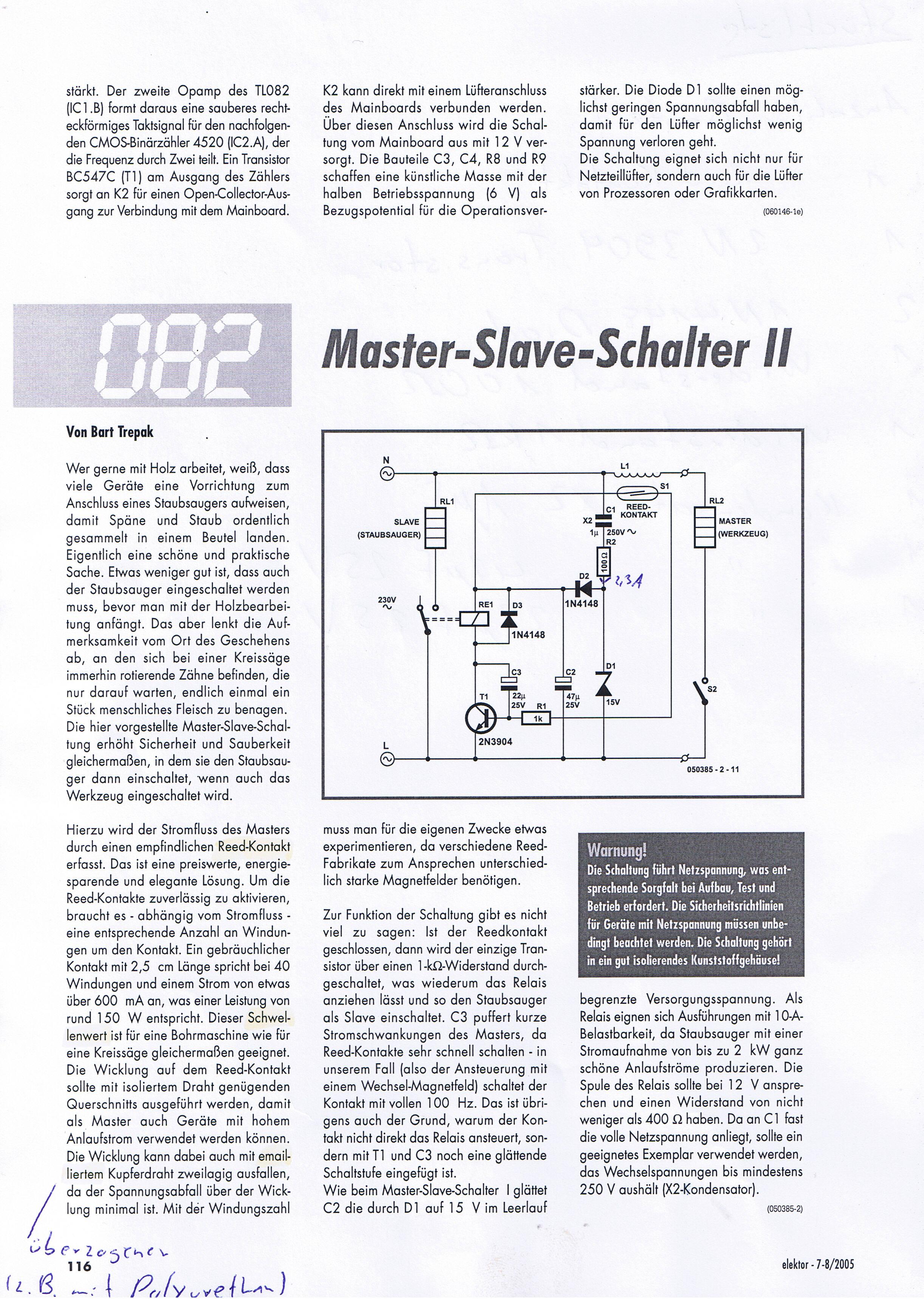 Einfache TRIAC - Schaltung für Anlaufautomatik - Mikrocontroller.net