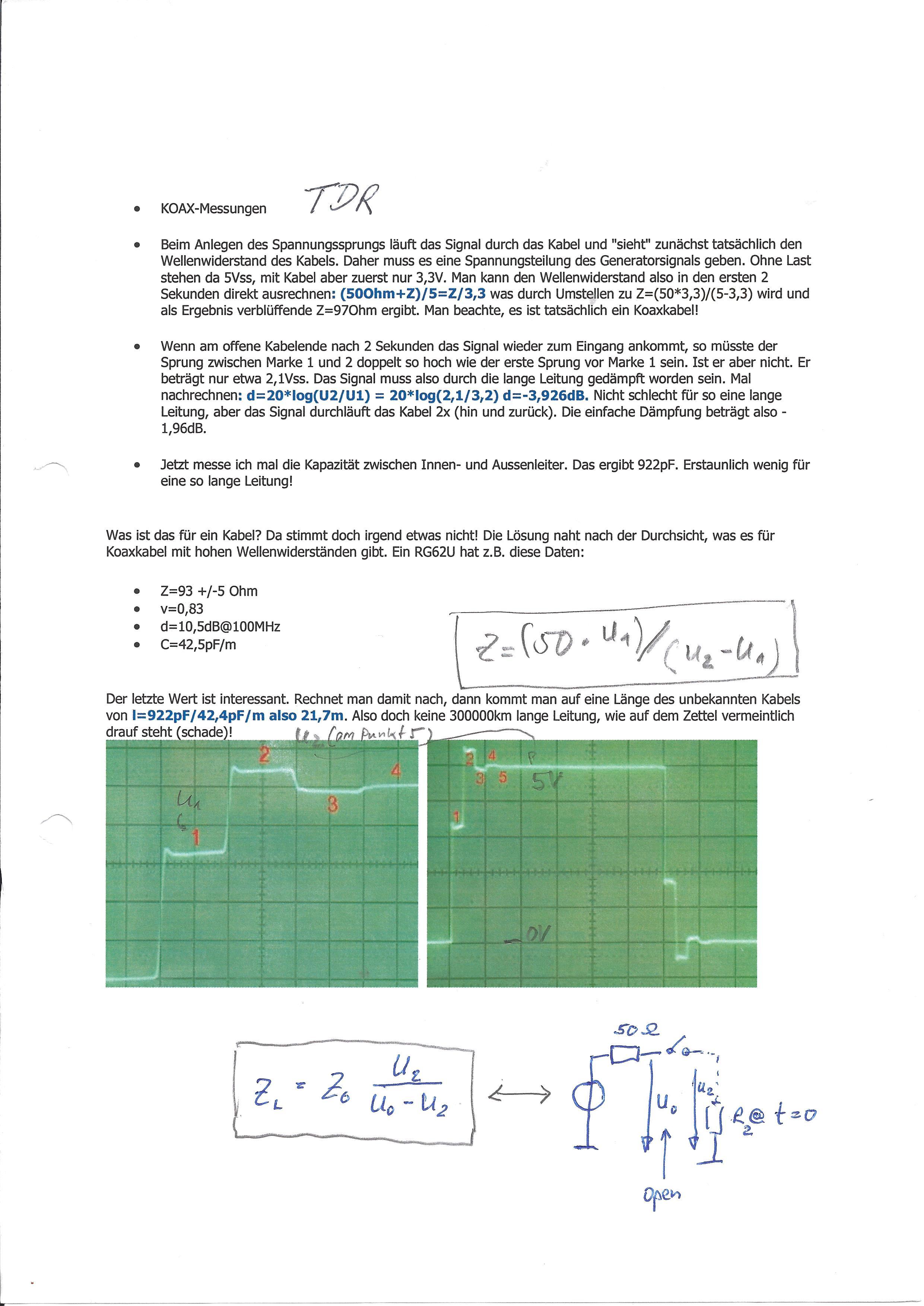TDR-Impedanzmessung - Denkfehler? - Mikrocontroller.net
