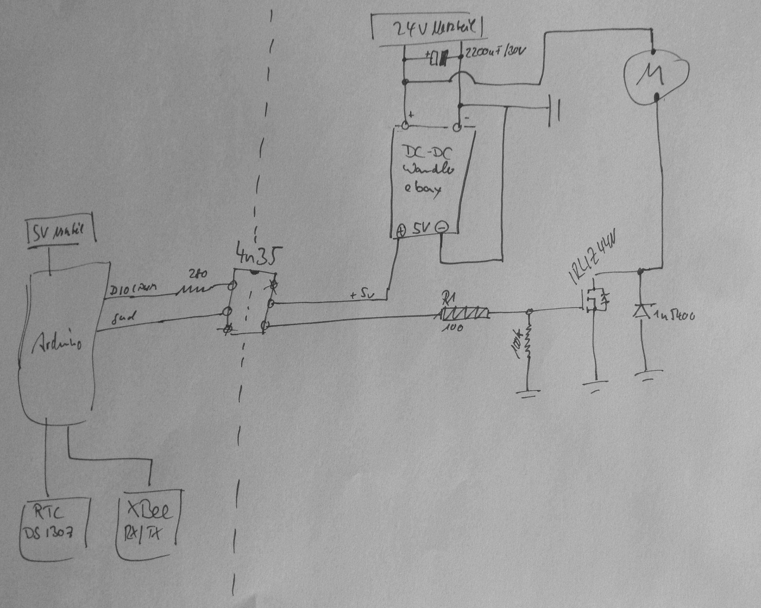 Probleme mit 24v DC Motorsteuerung - Mikrocontroller.net