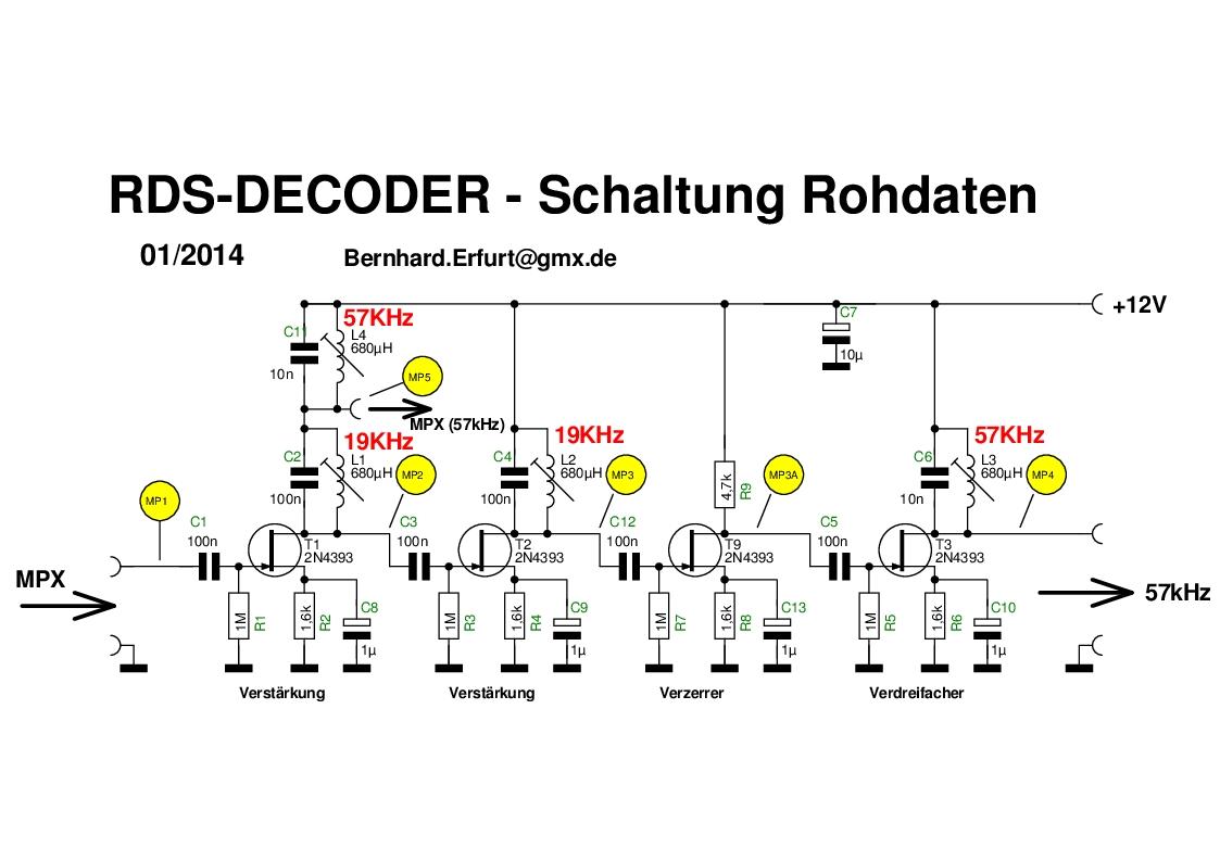 Rds Encoder Signalgenerator Testgenerator Testsender Modulator Super Afc 2wire Diagram Schaltung
