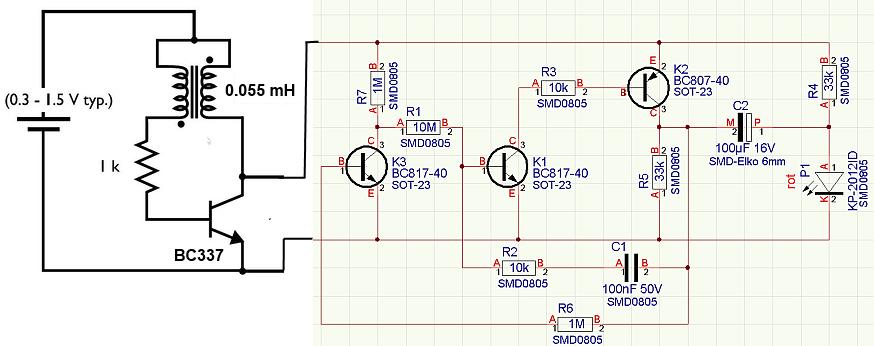 Joule Thief Plus Ewiger Blinker Mikrocontroller Net