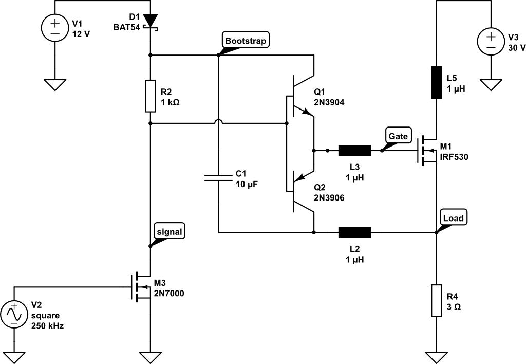 Mosfet Treiber Highside Diskret Mikrocontroller Net