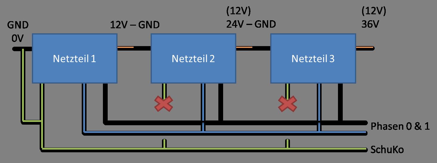 PC-Netzteile in Reihe schalten - Mikrocontroller.net