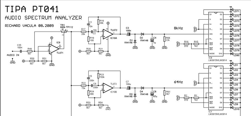 audio spectrum analyzer nach filter an ad wandler. Black Bedroom Furniture Sets. Home Design Ideas